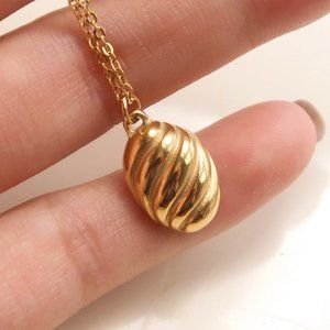 NEW 18K Gold Plated Braided Croissant Necklace